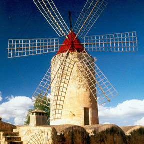 Mallorca's emblematic windmills