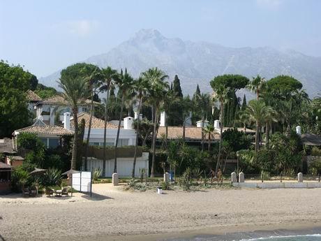 View of Marbella and La Concha from the Marbella Club pier
