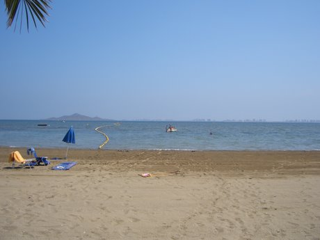 The Mar Menor, as viewed from the Taylor's house