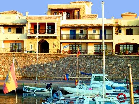 Picturesque, traditional fishing village of Villaricos, Almeria