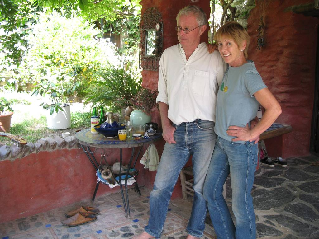 Chris and Annie Stewart at El Valero, in the Alpujarras, Andalusia