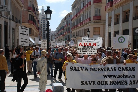 Expat protest march in Malaga