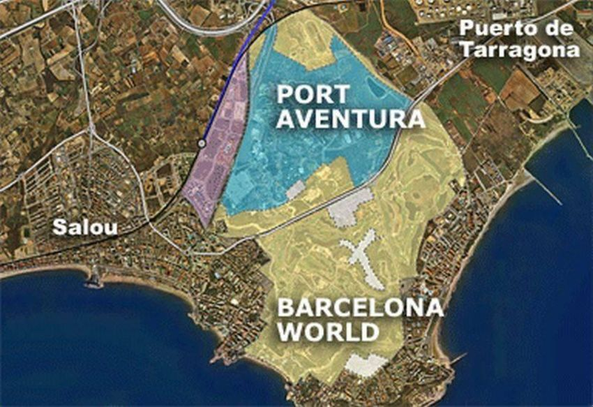 Area map of BCN World project