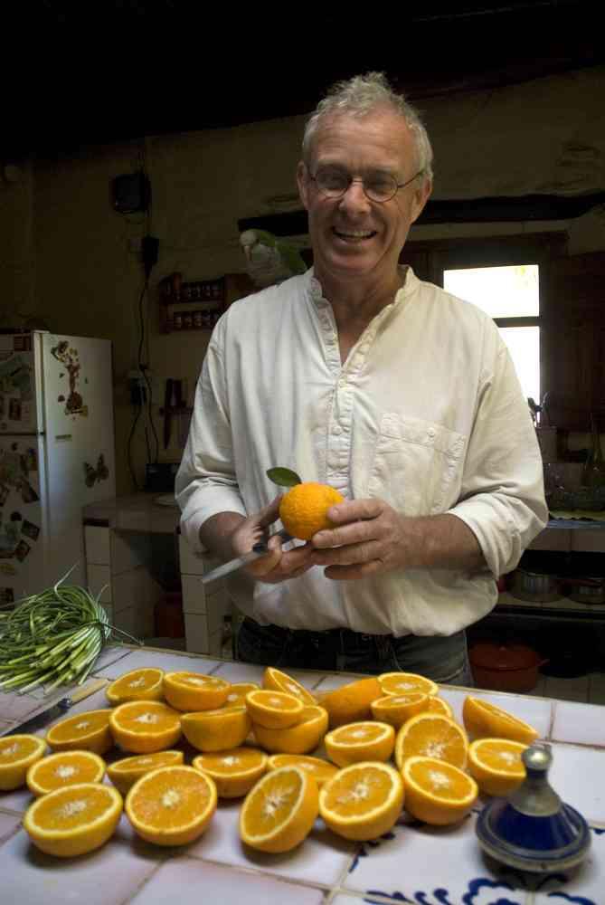Chris Stewart in the kitchen at El Valero