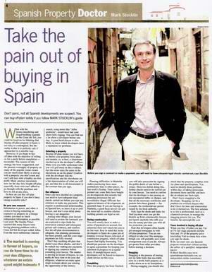 Sunday Times Spanish Property Doctor column