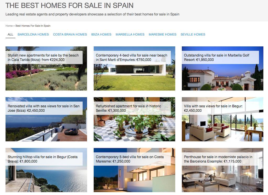 best homes in spain