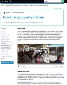 Foreign & Commonwealth Office guide to buying property in Spain