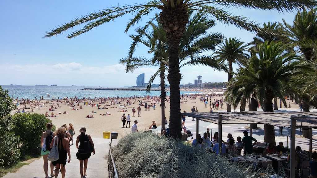 Barcelona, where property rental prices have surged ahead of the rest.