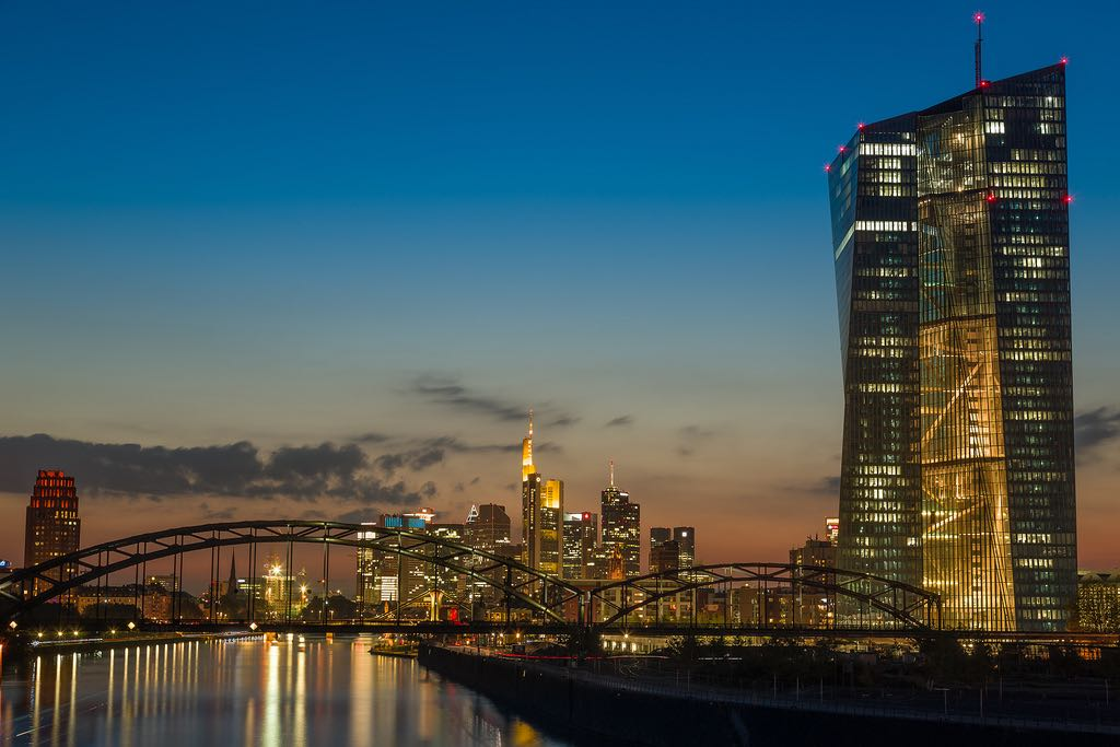 ECB HQ at Dusk. Photo credit: Dembo / Foter / CC BY-NC-ND