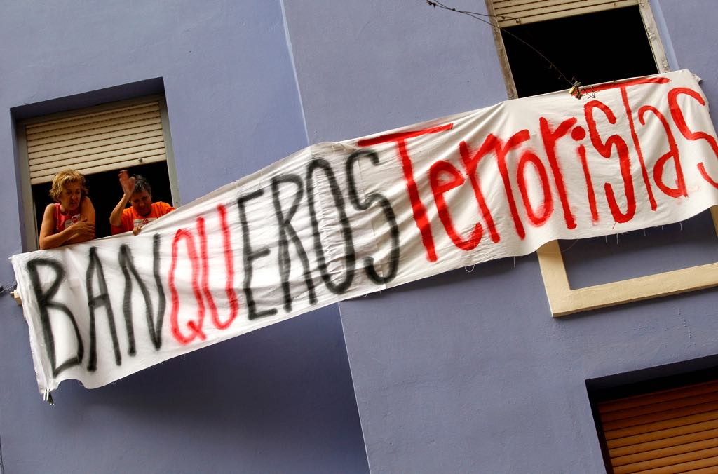 spanish bank repossession protests