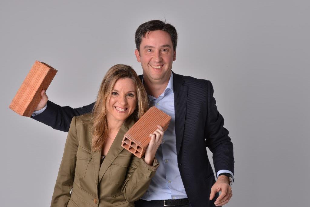 José Luís Riuz Bartolomé and Susana Burgos, authors of Come Back Bricks and Mortar (Vuelve, ladrillo, vuelve)