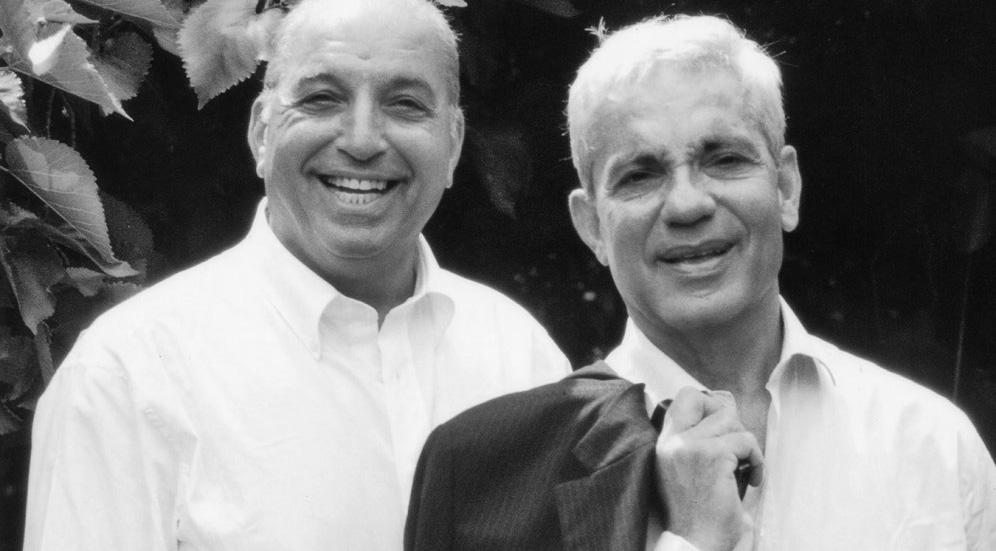 David and Simon Reuben. Photo: The Reuben Foundation