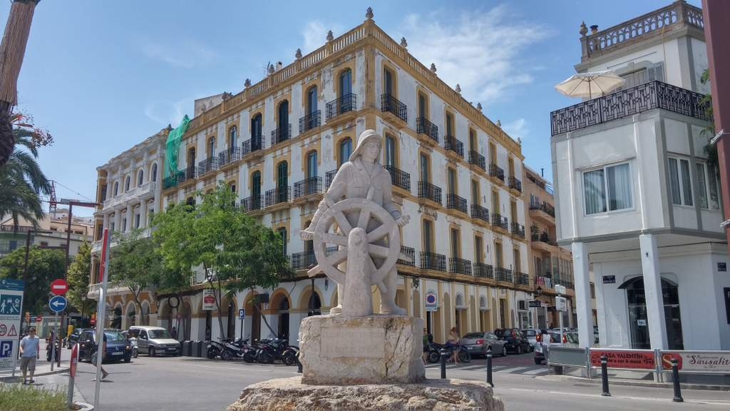 Ibiza town, where tourism is booming.