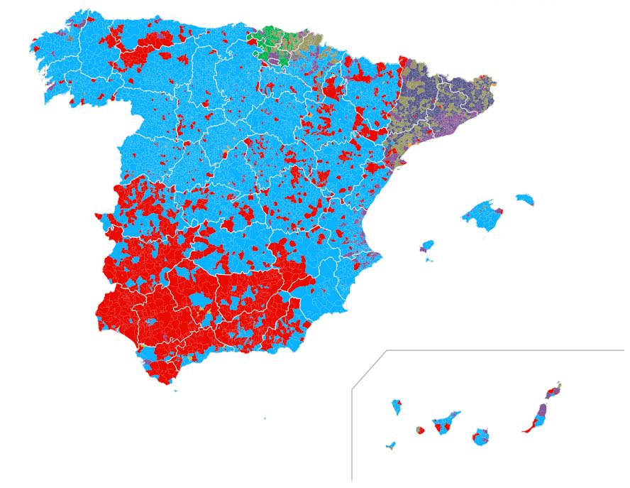 Spanish general election results 2015