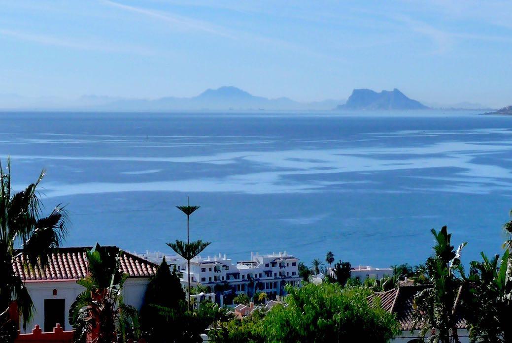 Costa del Sol, views of Gibraltar.