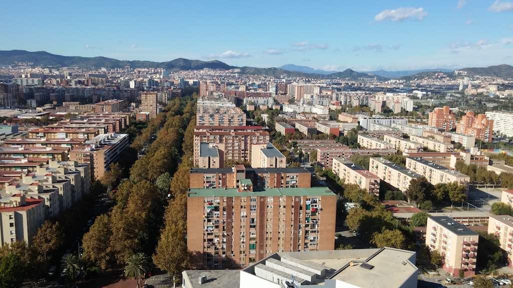 Barcelona's working-class Besòs district near Diagonal Mar and the beach