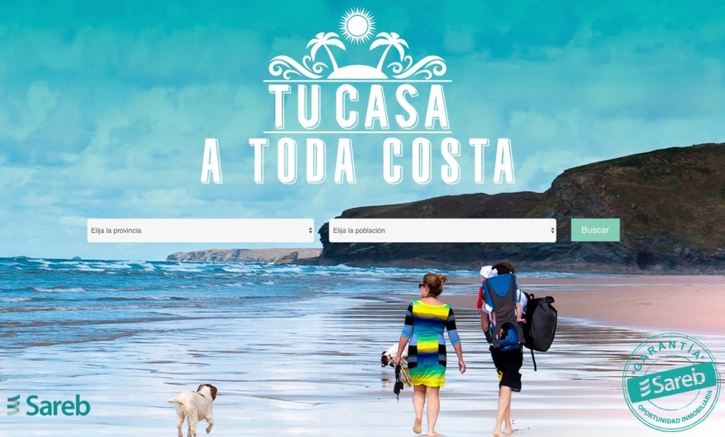 """Sareb """"Bad Bank"""" repossessed holiday-home sales campaign 2016 tu casa a toda costa your home at any cost"""