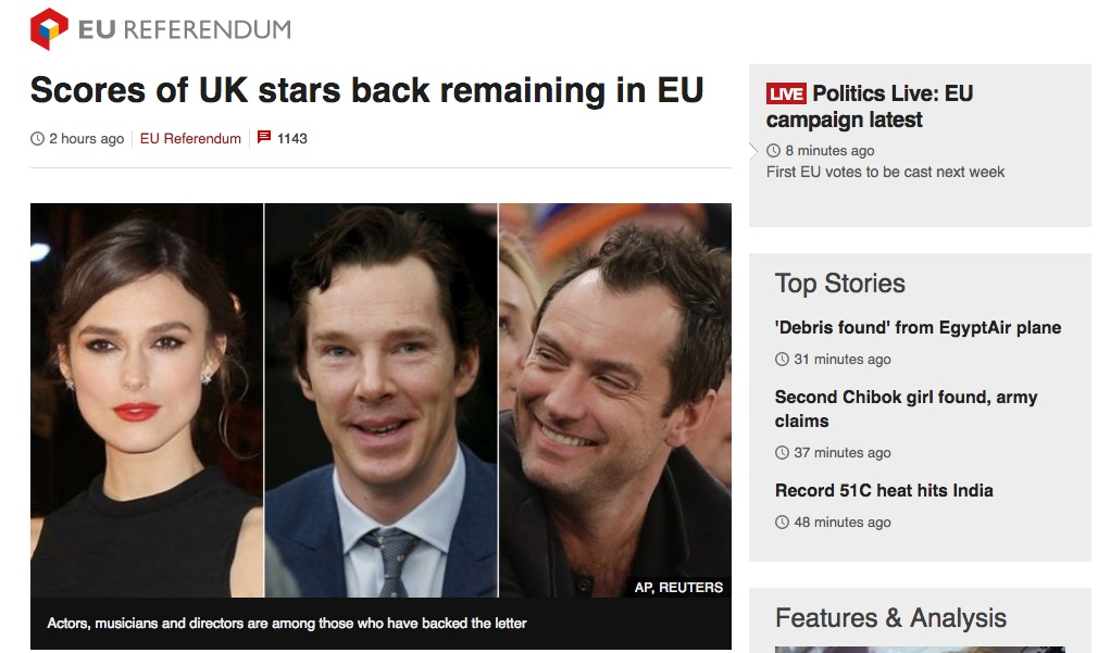 Screen capture from BBC News website