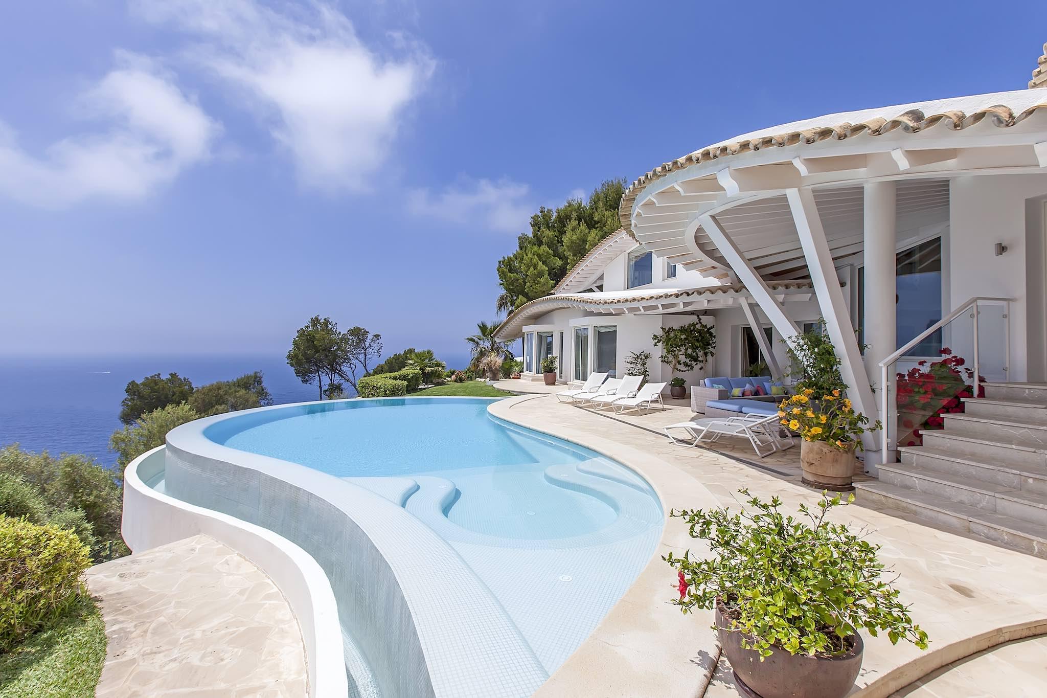 Engel & Völkers villa for sale overlooking Puerto Andratx and the sea. €8.9m