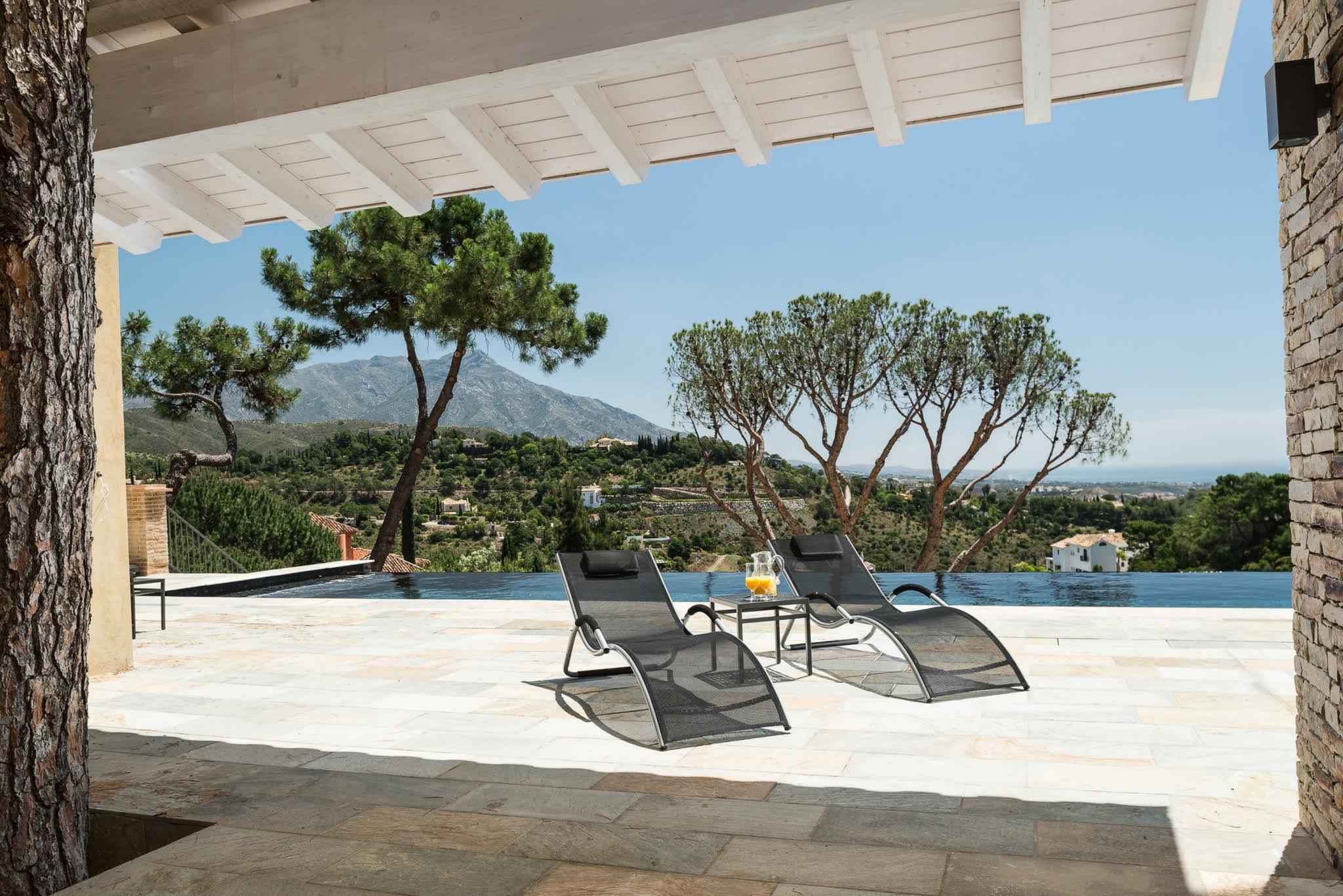 An infinity pool in the hills behind Marbella, Villa La Sorpresa