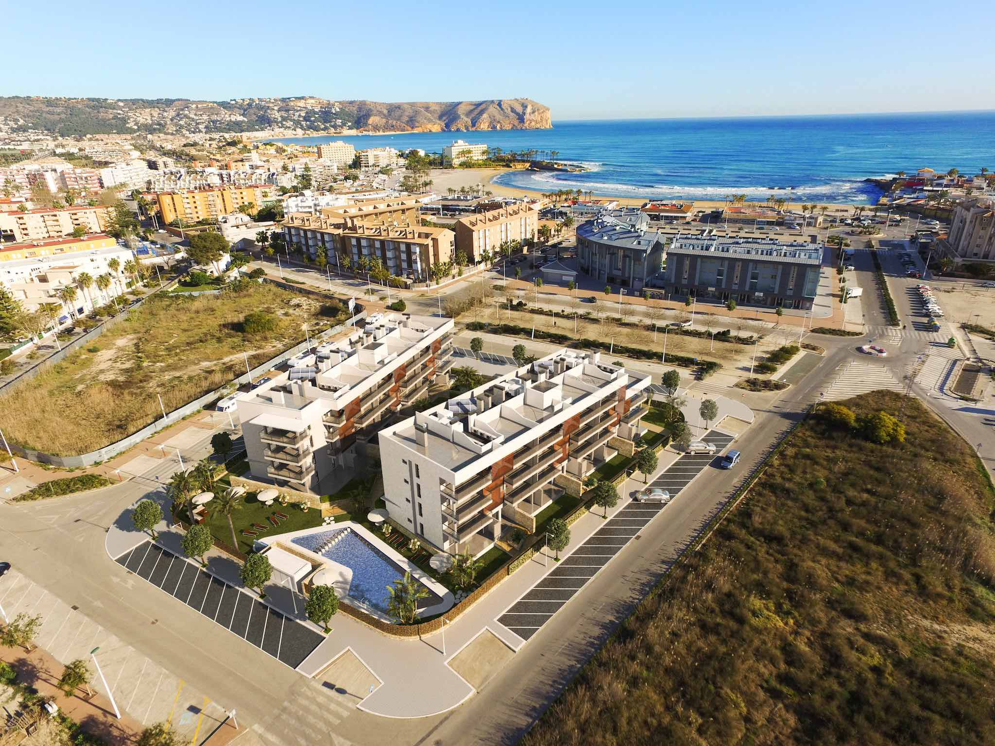 CGI / render of Taylor Wimpey España's new development for sale in Javea, Arenal Beach