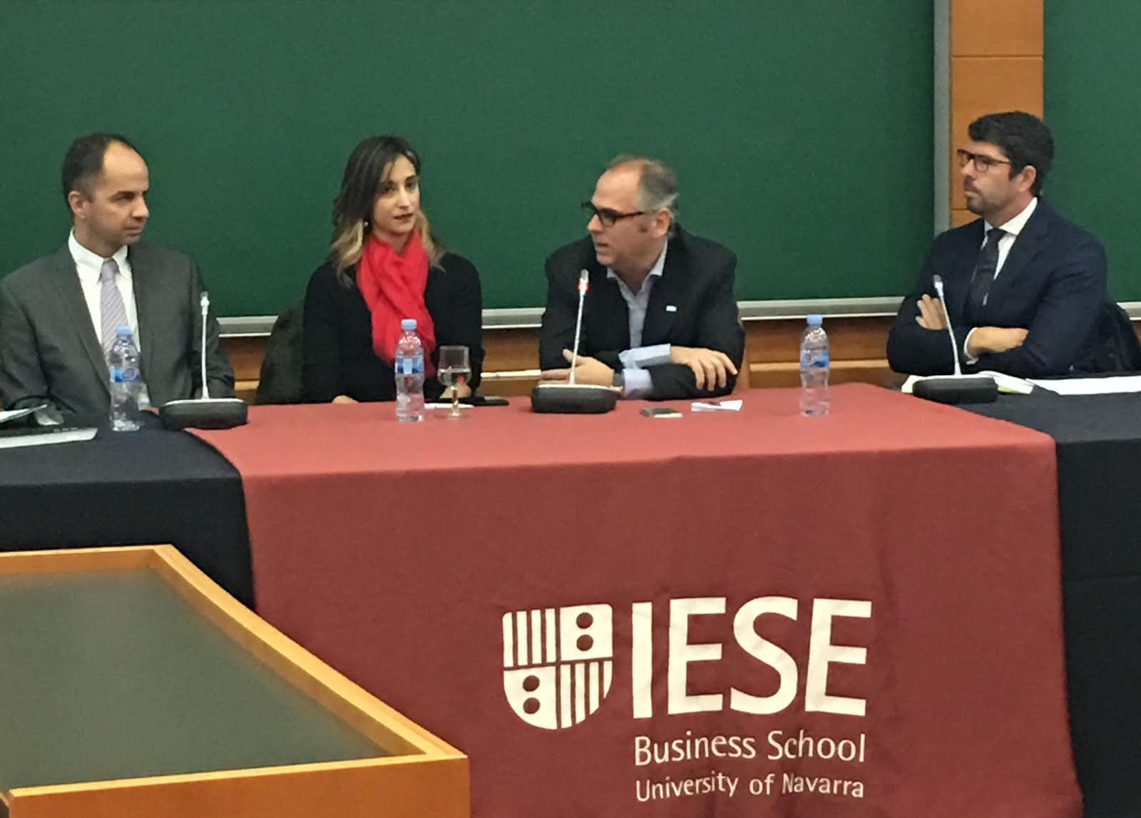 Left to right: Guifré Homedes of Amat Immobiliaris, Constanza Maya of Engel & Völkers, François Carriere of Coldwell Banker, and Alex Vaughan of Lucas Fox, Barcelona estate agents