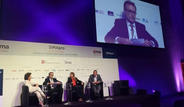 SIMA Pro 2017. Panel discussion Spanish second-home market & Brexit. Left to right Consuelo Villanueva, Mark Stücklin, Ángeles Serna, Marc Pritchard