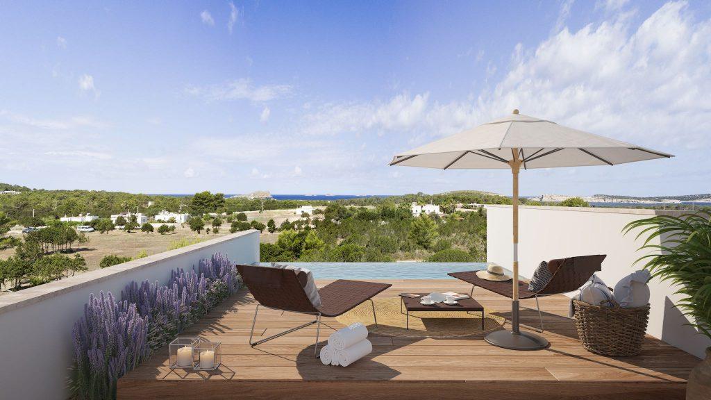 The White Angel TWA Cala Comte Ibiza new development villas for sale