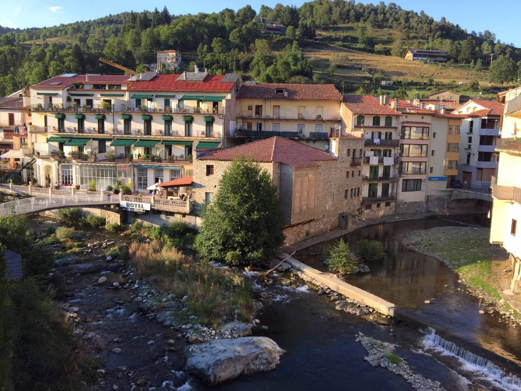 homes and property in Camprodon Pyrenees mountains Catalonia Spain