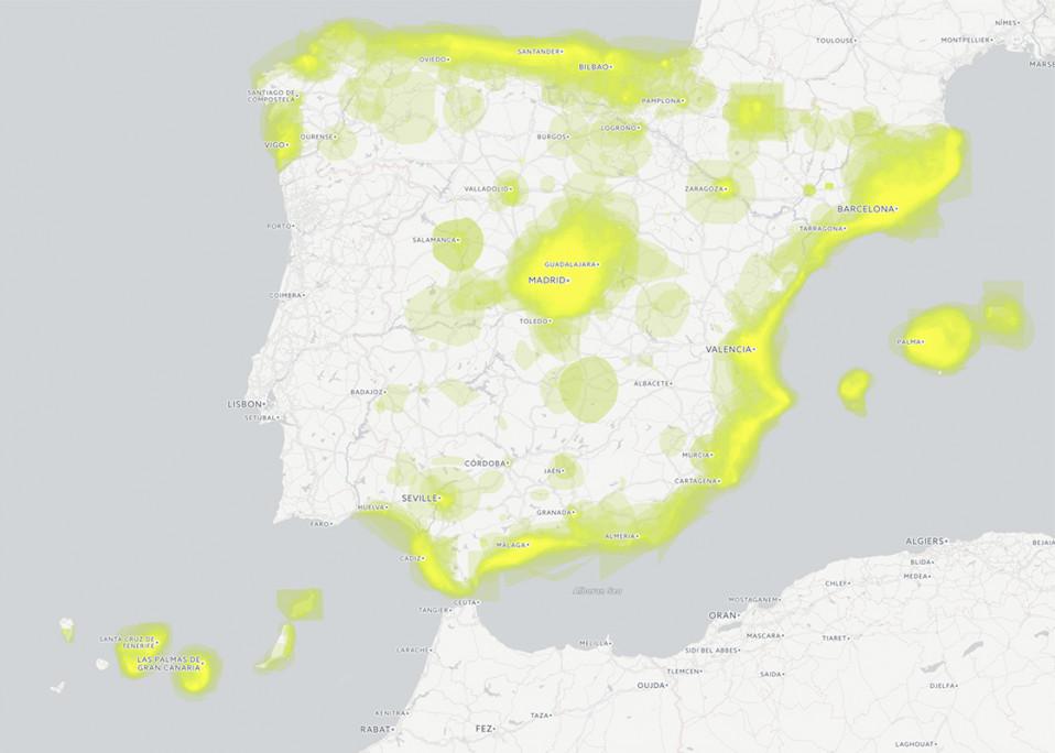 Spanish property buyer heat map