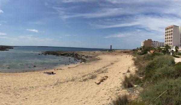 Beach in front of 5eh Colonia de Sant Jordi new development for sale mallorca