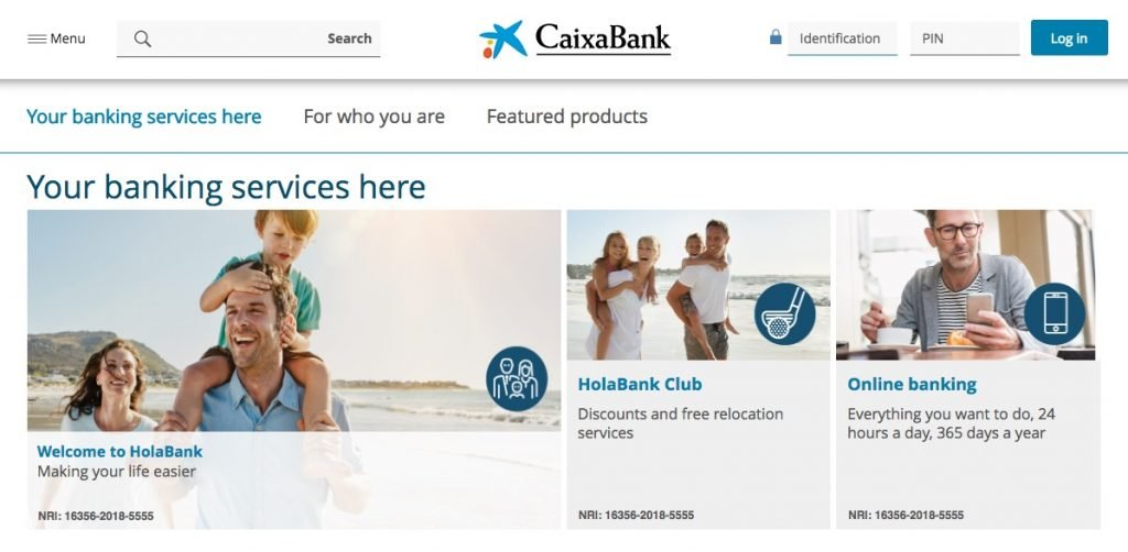 HolaBank new look web page