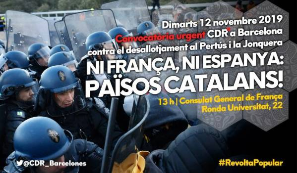 Catalan independence drive protest in Catalonia