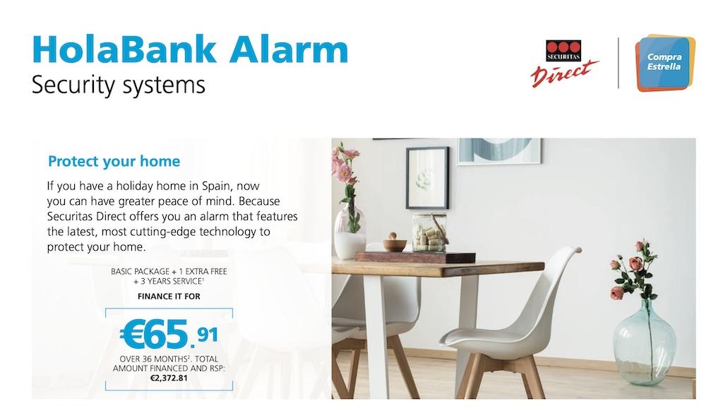 HolaBank alarm from Securitas Direct