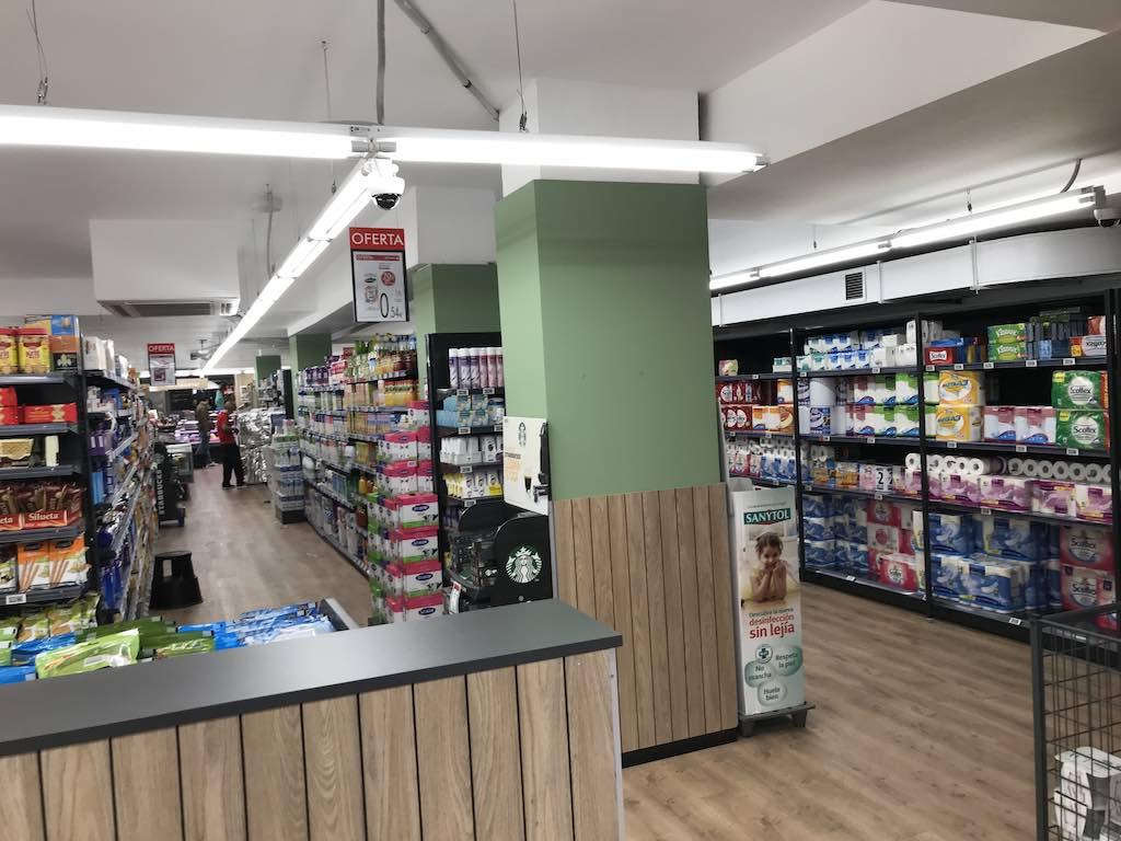 spain coronavirus supermarket shopping and hoarding