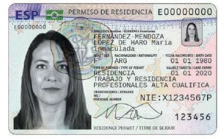 tie tarjeta de identidad extranjero spanish foreigner ID card